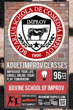 Bovine School of Improv Poster